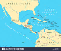 south america map aruba middle america political map with capitals and borders mid
