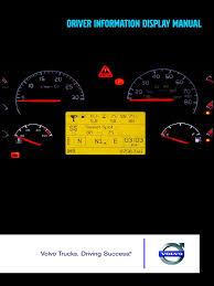 volvo driver information display manual transmission mechanics