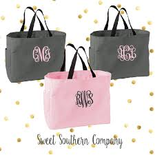 bridesmaids bags set of 9 personalized or bridesmaid tote bags monogrammed