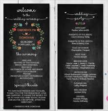 wedding programs rustic wedding program template 64 free word pdf psd documents