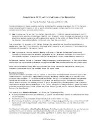Example Of Executive Summary For Resume Example Of Research Paper Executive Summary Template