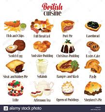 food vector a vector illustration of british food cuisine stock vector art