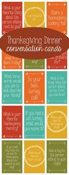 thanksgiving dinner conversation cards thanksgiving starters