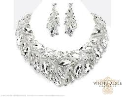 chunky crystal necklace sets images Crystal bridal jewelry set statement necklace back drop necklace jpg