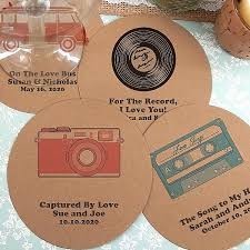 wedding coaster favors drink coasters kraft paper custom wedding coasters