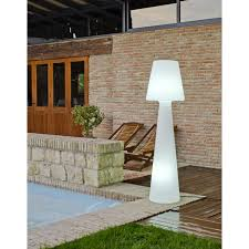 decoration terrasse exterieure moderne lampadaire extérieur eclairage jardin leroy merlin