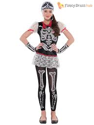 Skeleton Woman Halloween Costume Amscan Teens Halloween Scared Bone Skeleton Girls Fancy
