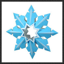 papercraft snowflake tree decoration v2 free