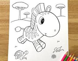 zebra coloring etsy