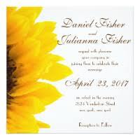 sunflower wedding invitations sunflower wedding invitations announcements zazzle