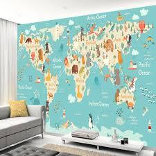 map mural aliexpress com buy custom children wallpaper map