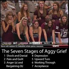 Texas A M Memes - the 7 stages of aggie grief cfb