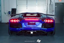 chrome blue lamborghini aventador chrome blue lamborghini aventador by sr auto rear sssupersports