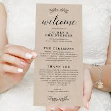 print your own wedding programs the 25 best print your own wedding programs ideas on
