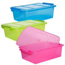 bulk translucent plastic storage boxes with clip lock lids at