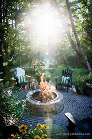 country cottage diy circular firepit patio brooklyn limestone
