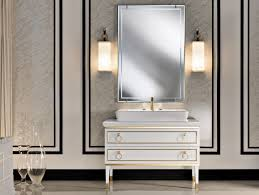 bathrooms design vintage black painted wooden vanity for
