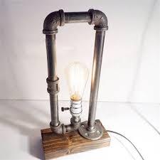 creative vintage antique loft edison bulb water pipe table lights