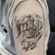 large arm temporary tattoo praj hannya monster tattoo sticker