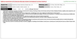 Stockroom Associate Resume Stockroom Job Description Stockroom Resume 12 Useful Materials