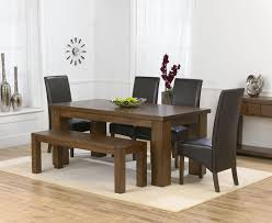 Dining Table Chairs And Bench Set Eye Catching Dining Table 4 Chairs And Bench Room Decor Ideas At