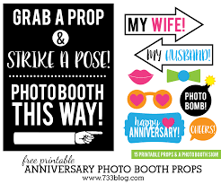 printable anniversary photo booth props inspiration made simple