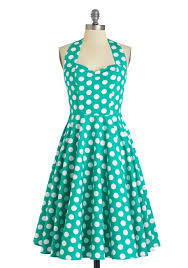halter style vintage polka dot dress 1950s rockabilly reoria
