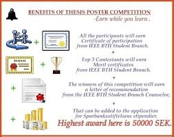 ieee thesis poster competition 2013 ieee bth student branch