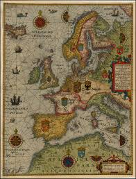 Old Map Of Europe by Map Of Europe By Lucas Janszoon Waghenaer 1592 Hi Resolution
