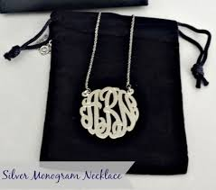 sterling silver monogram necklace pendant gift ideas for sterling silver monogram necklace
