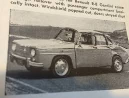 renault gordini r8 adventures in auto journalism a rolled renault in 1965 bestride