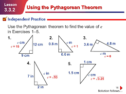 using the pythagorean theorem worksheet worksheets