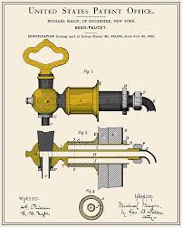 Beer Faucet Beer Faucet Patent Digital Art By Finlay Mcnevin