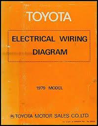 1979 toyota electrical wiring diagram original choose your model