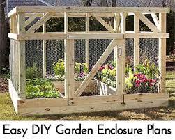 easy diy garden enclosure plans vegetable gardening pinterest
