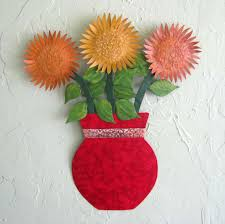 buy a hand crafted metal sunflower wall art sculpture floral art