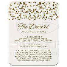 enclosure cards wedding enclosure cards glamorous glitter look confetti dots