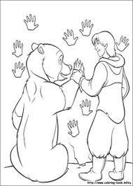 kleurplaat brother bear kenai koda sam en moes kleurplaten