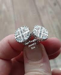 mens diamond stud earrings 6ct sterling silver baguette simulated diamond stud earrings
