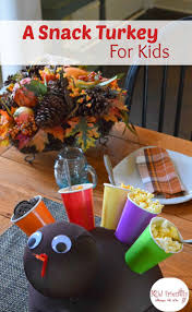 a snack turkey craft for thanksgiving with kids fill the