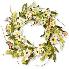 national tree company blue purple pink 20 inch floral wreath