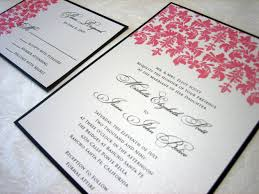 Damask Wedding Invitations Black U0026 Pink Damask Wedding Invitation U2013 A Vibrant Wedding