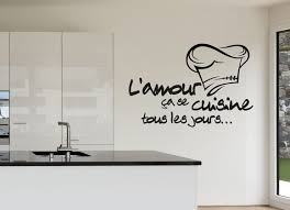 stickers cuisine citation stickers l amour se cuisine tous les jours au design original