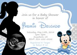 Minnie Mouse Invitation Card Mickey Mouse Baby Shower Invitations U2013 Frenchkitten Net