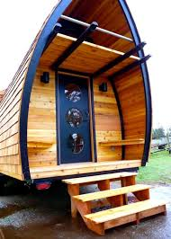 Cool Small Houses Trailer Transformed Into Small Modern House With Wooden Exterior