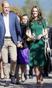 kate middleton dresses kate middleton wears jade dress to continues canada tour with