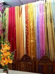 Bohemian Drapes Pair Silk Sari Curtains Royal Blue Gold Saree Curtain India Drapes