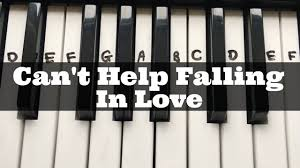 piano key notes can u0027t help falling in love easy keyboard tutorial with notes