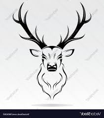 unique tribal deer vector design vector images stocks and