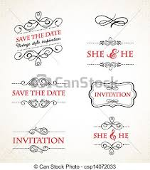 wedding invitations vector vintage wedding invitations vector set vintage vector vectors